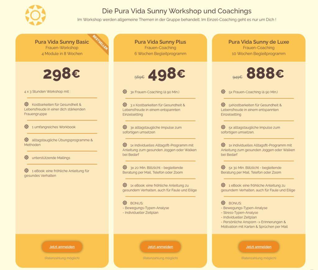 Pura Vida Workshops und Coachings